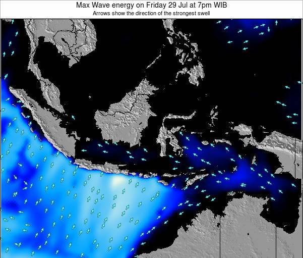 EastTimor Max Wave energy on Saturday 15 Mar at 1am WIT