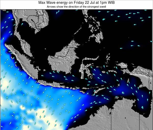 EastTimor Max Wave energy on Tuesday 28 May at 7pm WIT