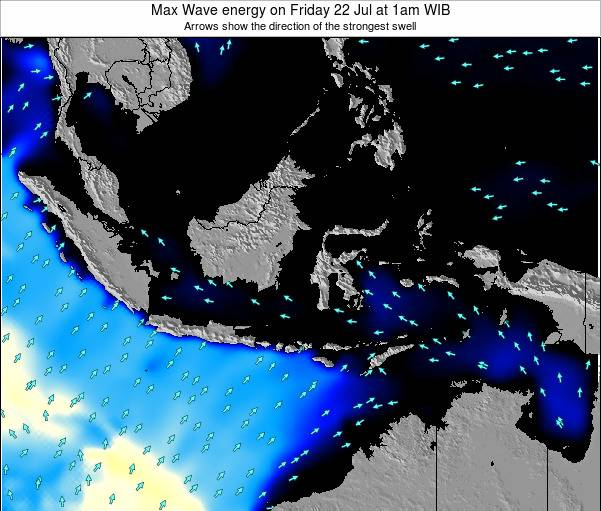 EastTimor Max Wave energy on Saturday 26 Jan at 1am WIB map