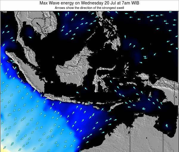 Indonesia Max Wave energy on Wednesday 29 May at 7am WIT