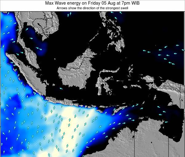 EastTimor Max Wave energy on Friday 24 May at 1pm WIT