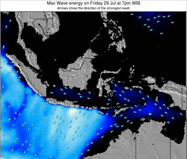 EastTimor Max Wave energy on Tuesday 10 Dec at 7pm WIT