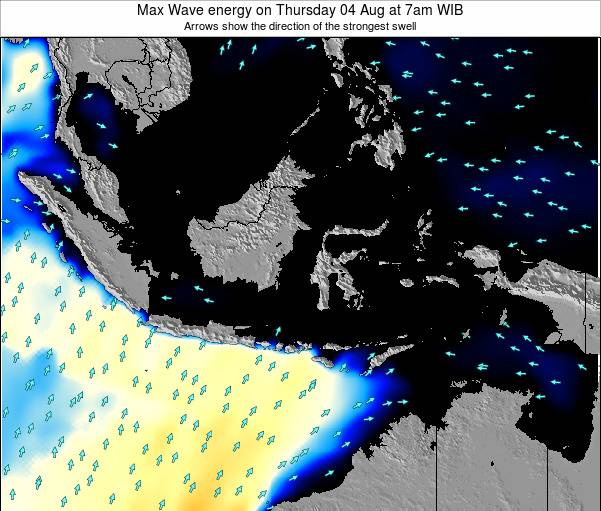 EastTimor Max Wave energy on Tuesday 10 May at 1am WIB