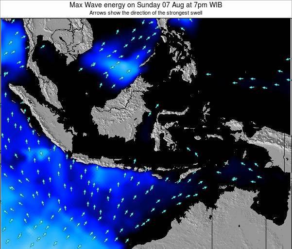EastTimor Max Wave energy on Thursday 29 Jun at 1am WIB