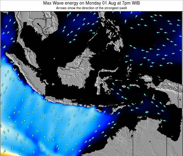 EastTimor Max Wave energy on Monday 28 Apr at 1am WIT