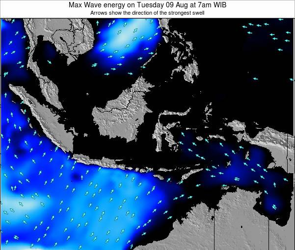 Indonesia Max Wave energy on Wednesday 12 Mar at 7am WIT