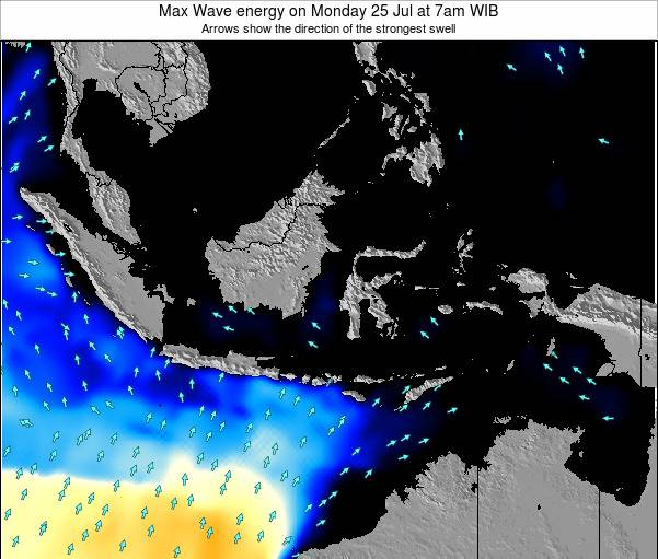 Indonesia Max Wave energy on Tuesday 22 Apr at 1am WIT