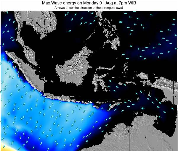 Indonesia Max Wave energy on Friday 25 Jul at 7pm WIT