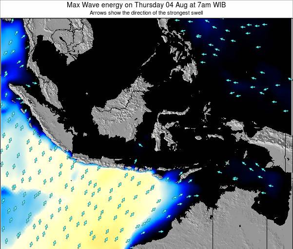 EastTimor Max Wave energy on Thursday 30 Jun at 1pm WIB