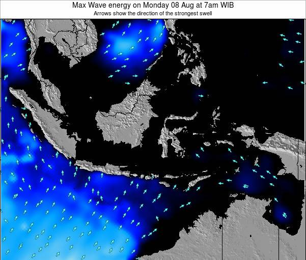 Indonesia Max Wave energy on Tuesday 29 Jul at 7am WIT