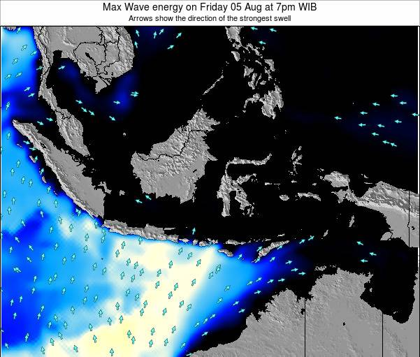 EastTimor Max Wave energy on Monday 21 Apr at 7am WIT