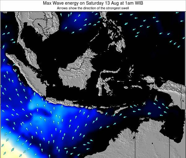 EastTimor Max Wave energy on Thursday 12 Dec at 1pm WIT