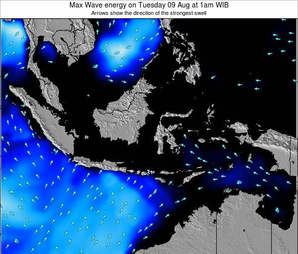 EastTimor Max Wave energy on Monday 06 Oct at 1am WIT