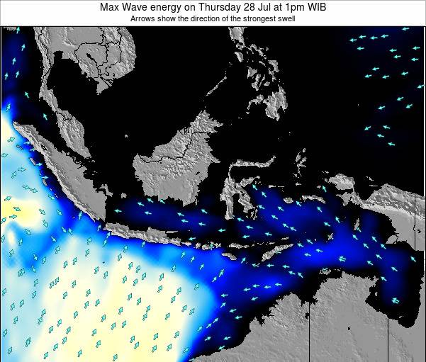 Indonesia Max Wave energy on Sunday 26 May at 7am WIT