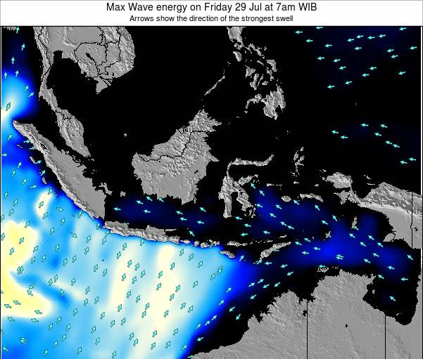 EastTimor Max Wave energy on Saturday 15 Mar at 1pm WIT