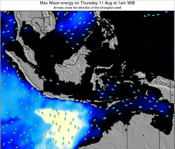 EastTimor Max Wave energy on Friday 01 May at 1pm WIT