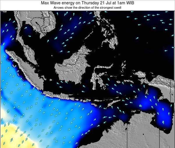 Indonesia Max Wave energy on Tuesday 28 May at 1pm WIT