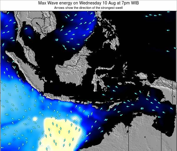 EastTimor Max Wave energy on Thursday 30 May at 1pm WIT