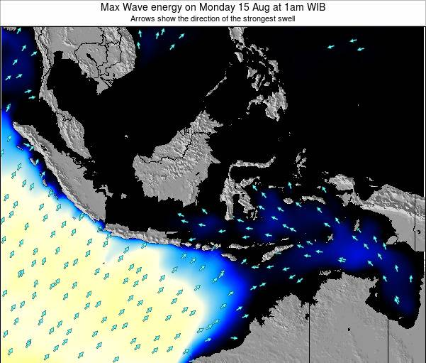 EastTimor Max Wave energy on Thursday 20 Dec at 1am WIB map
