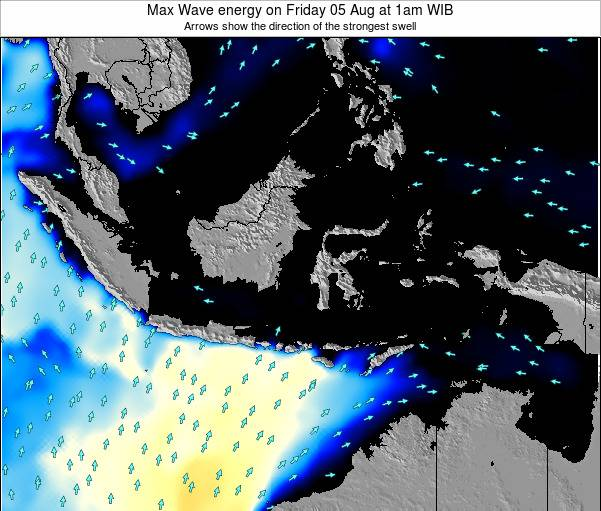 EastTimor Max Wave energy on Tuesday 18 Mar at 1am WIT