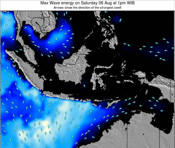 EastTimor Max Wave energy on Friday 20 Dec at 7am WIT