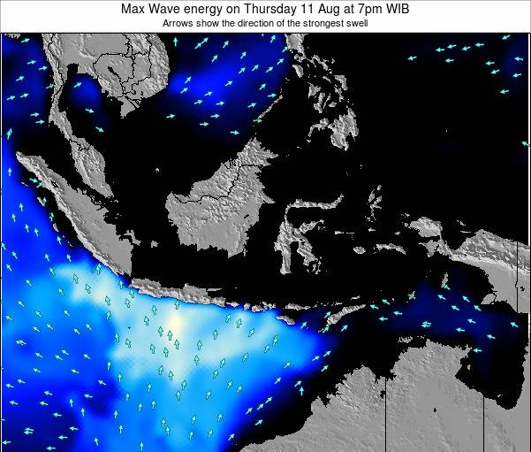 Indonesia Max Wave energy on Sunday 26 May at 7pm WIT