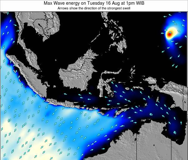 EastTimor Max Wave energy on Friday 14 Mar at 7am WIT