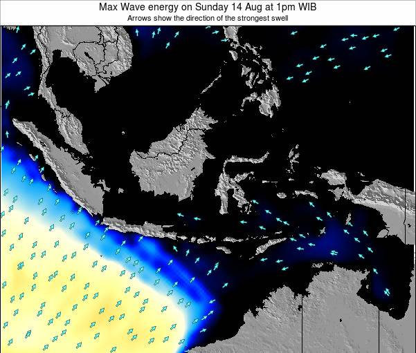 EastTimor Max Wave energy on Wednesday 06 Aug at 1pm WIT