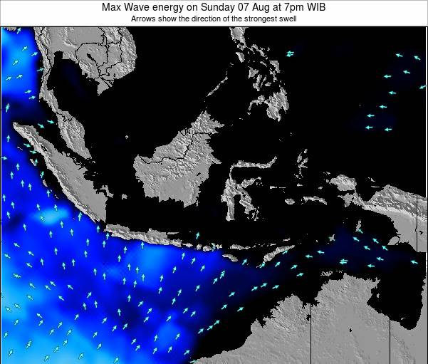 EastTimor Max Wave energy on Tuesday 25 Dec at 7am WIB map