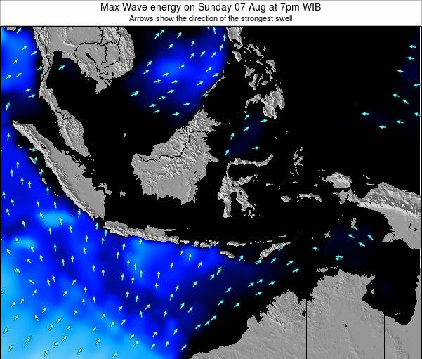 EastTimor Max Wave energy on Saturday 25 Oct at 1pm WIT
