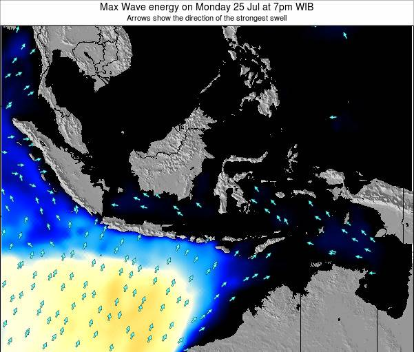 EastTimor Max Wave energy on Saturday 07 Dec at 7pm WIT
