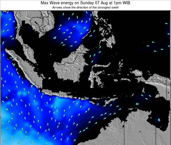 EastTimor Max Wave energy on Saturday 26 Jul at 1am WIT