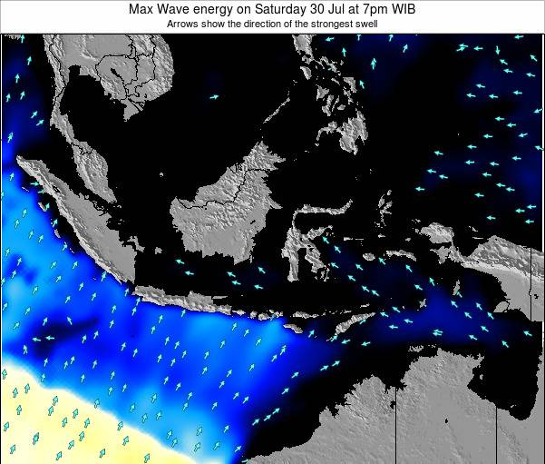 EastTimor Max Wave energy on Thursday 17 Apr at 1pm WIT
