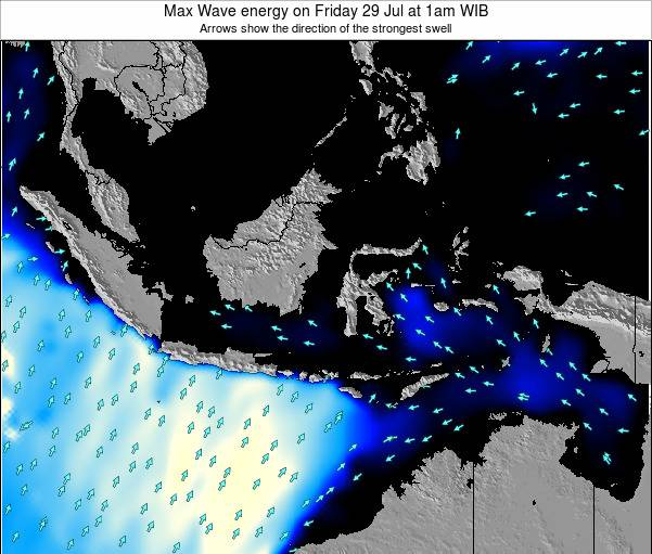 EastTimor Max Wave energy on Sunday 02 Nov at 1am WIT