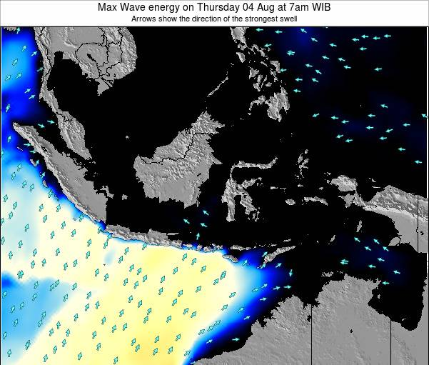 EastTimor Max Wave energy on Tuesday 29 Jul at 1am WIT