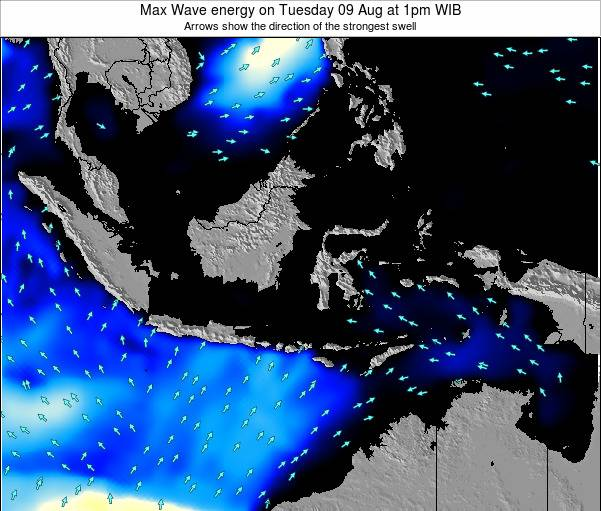 EastTimor Max Wave energy on Friday 18 Apr at 1am WIT