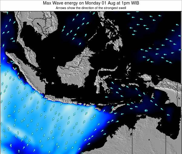 EastTimor Max Wave energy on Thursday 23 May at 7am WIT