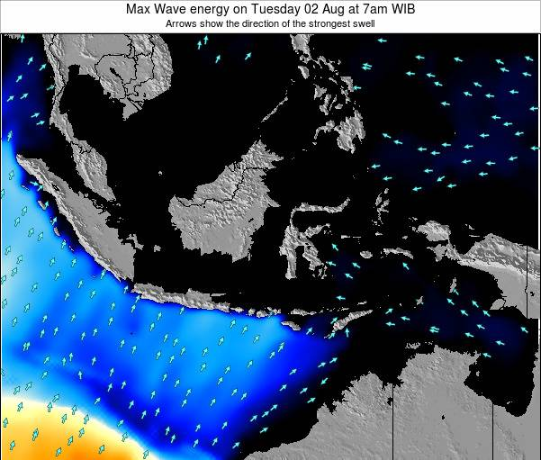 EastTimor Max Wave energy on Thursday 12 Dec at 1am WIT