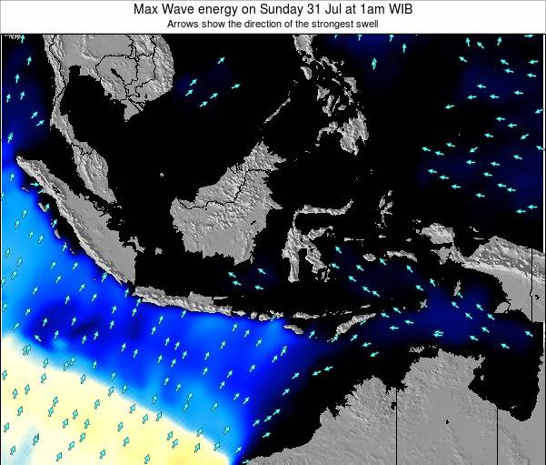 EastTimor Max Wave energy on Tuesday 11 Mar at 7pm WIT