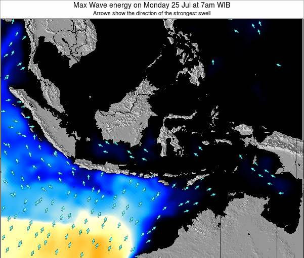 EastTimor Max Wave energy on Wednesday 11 Dec at 7pm WIT
