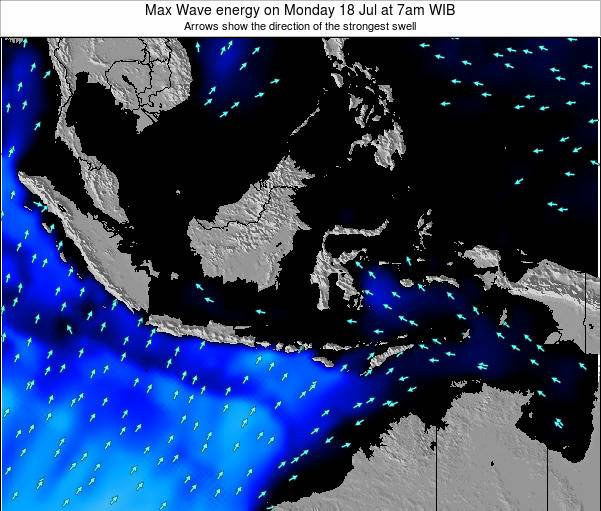 EastTimor Max Wave energy on Saturday 18 Aug at 7pm WIB map