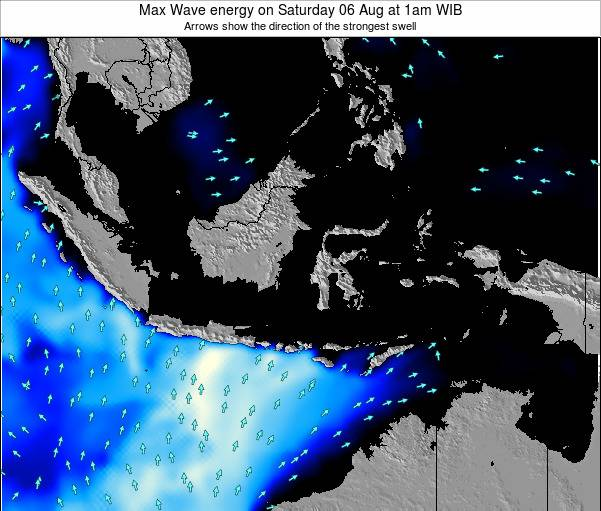 Indonesia Max Wave energy on Friday 18 Apr at 7am WIT