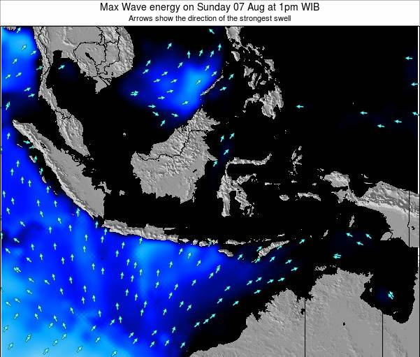 Indonesia Max Wave energy on Tuesday 24 Oct at 7am WIB