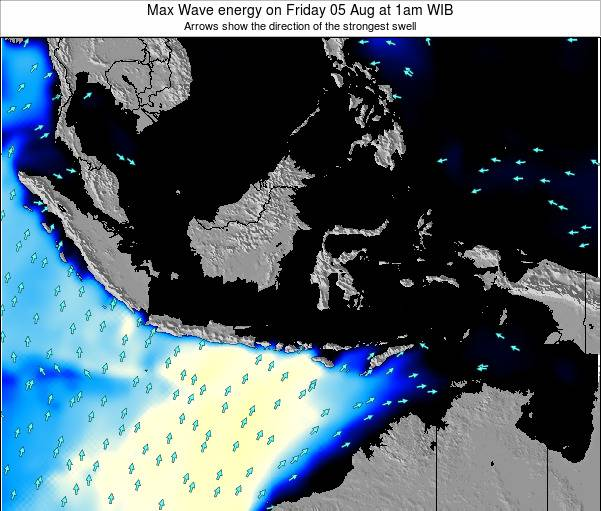 Indonesia Max Wave energy on Tuesday 11 Mar at 1am WIT