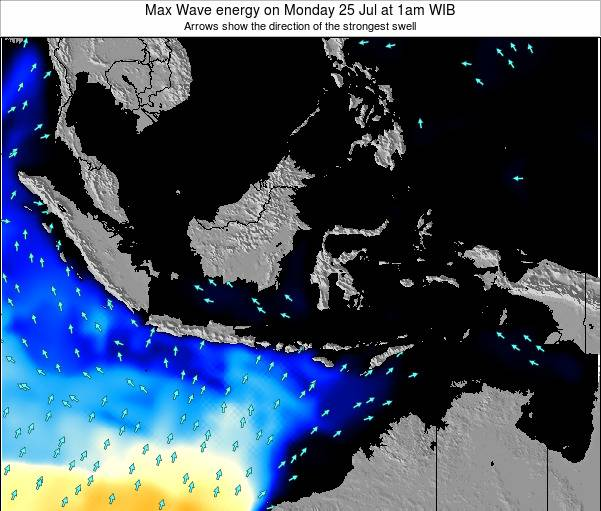 Indonesia Max Wave energy on Saturday 26 Apr at 1am WIT
