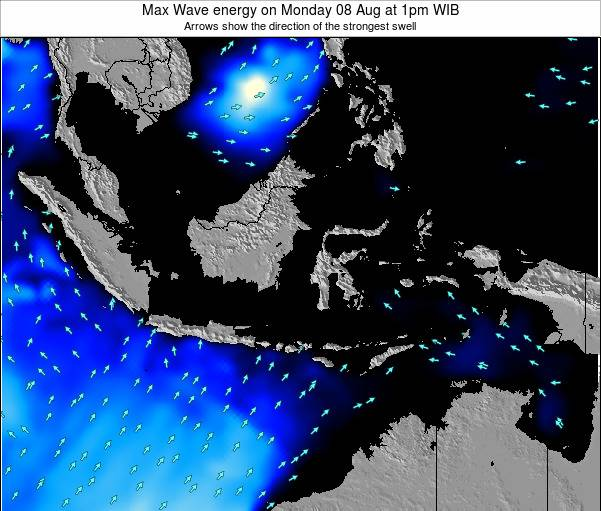 Indonesia Max Wave energy on Monday 20 Apr at 1am WIT