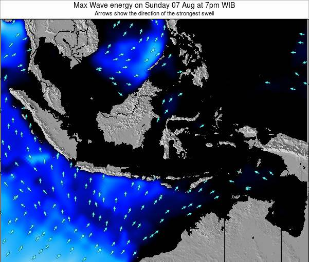 Indonesia Max Wave energy on Thursday 27 Oct at 7pm WIB