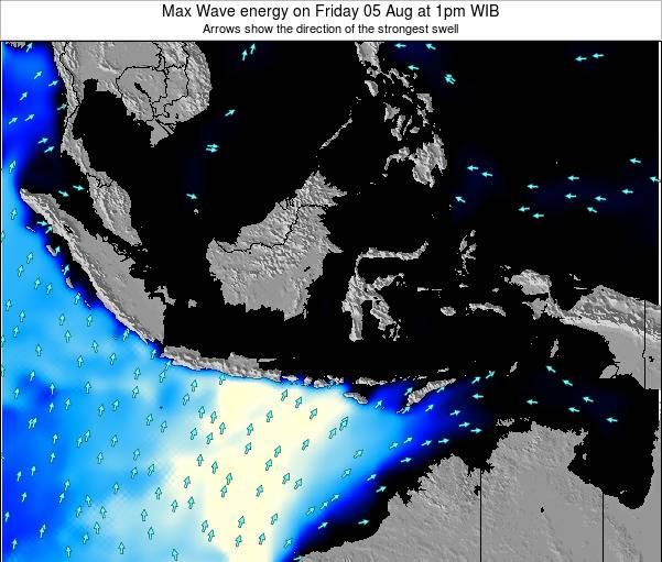 Indonesia Max Wave energy on Friday 14 Mar at 7am WIT