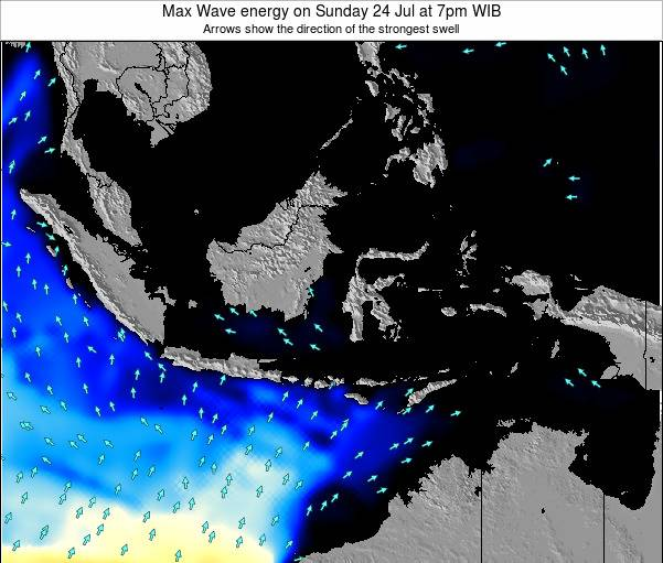 Indonesia Max Wave energy on Sunday 26 Oct at 1am WIT