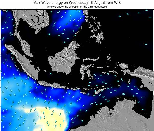 Indonesia Max Wave energy on Tuesday 28 May at 1am WIT